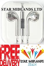 New SILVER SHINY Headphones Earphones for iPhone, Samsung HTC Sony With Mic