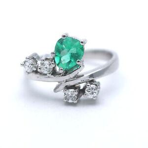 Smaragd Ring 585 Gold 14 Karat Weißgold Edelstein Diamant Brilliant Wert 700,-