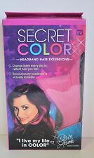 """NEW SECRET COLOR Headband Hair Extensions by Demi Lovato TV Pink 14"""" Long"""