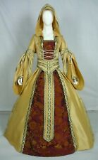 Vestido de boda Renaissance Tudor Medieval handfasting Larp Vestido de disfraz (MD-09)