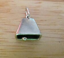 Sterling Silver 3D 13x11mm Movable Cow Bell Cowbell Charm!