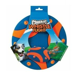 CHUCKIT WHISTLE FLIGHT FLYER Dog Puppy Frisbee Run Play Fun Lightweight Flexible