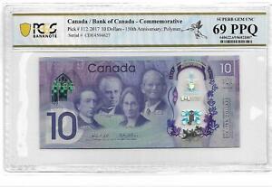 Canada/Bank of Canada 2017 10 Dollars 150th Anniversary PCGS 69 OPQ/PPQ