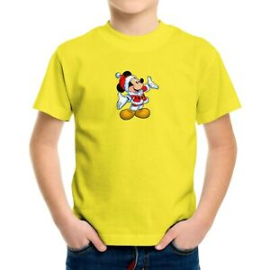 Toddler Kids Tee T-Shirt Infant Baby Bodysuit Print Christmas Mickey Mouse Happy