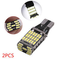 2x 6000K T15 W16W 45 SMD 4014 Error Free LED Car Reverse Back Light Bulbs White