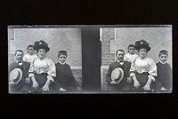 Francia Famille Foto Negativo PL51L27n6 Placca Da Lente Vintage 1909