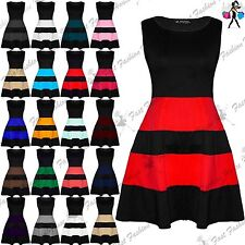Unbranded Striped Sleeveless Skater Dresses for Women
