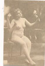 Erotik-Karte nackte Frau, Busen, Nude   (8)-(F27)