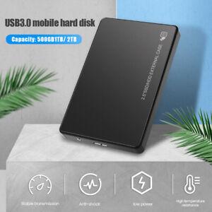 "Portable External Hard Drive Disk 2TB USB 3.0 2.5"" HDD For Mac PC Laptop Windows"