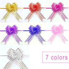 10x Bows Ribbon Wedding Flower Pull Bows Birthday Party Present Gift Decor Hot