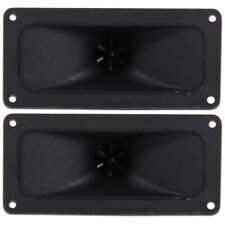 More details for 2x black piezo horn flare tweeters spare speaker replacement parts 300w