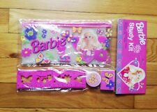 vintage barbie doll pencil pouch study kit deadstock NIP 90s