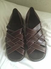 Cole Haan Country Brown Leather Fisherman Sandals  10 1/2 M   NEW    $169