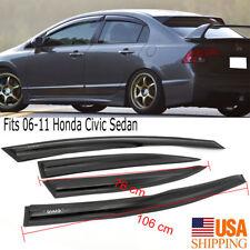 Fits 2006-2011 Honda Civic Sedan Slim Style Acrylic Window Visors 4PCS Set
