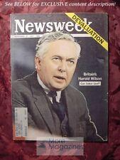 NEWSWEEK November 27 1967 Nov 67 11/27/67 GREAT BRITAIN HAROLD WILSON