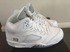 9a197f205906 Air Jordan Retro 5 s White   Silver Mens US 10.5 Jordan 23