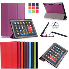 "10"" 8"" Slim PU Leather Smart Folio Stand Case Cover for Lenovo Tab 2 3 4 Tablet"