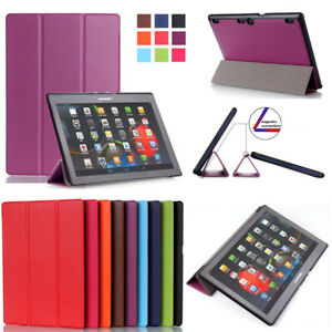 """10"""" 8"""" Slim PU Leather Smart Folio Stand Case Cover for Lenovo Tab 2 3 4 Tablet"""