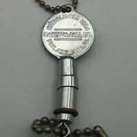 Vintage Carey McFall Est 1864 Philadelphia Railmaster Advertising FOB Keychain /