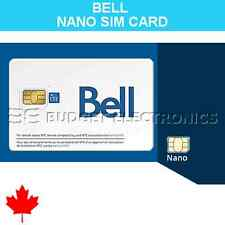 NEW Bell Mobility Prepaid Nano SIM Card for iPhone 5 iPhone 6 Canada Travel