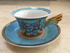 NEW Authentic VERSACE MEDUSA ROSENTHAL DE LA MER COFFEE TEA CUP SAUCER SET    AG