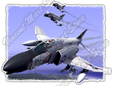 "F-4 Phantom Planes Air Force Military US Army Bumper Vinyl Sticker Decal 4""X5"""