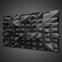 3D BLACK ABSTRACT MODERN CANVAS PICTURE PRINT WALL ART MODERN DESIGN