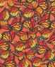 Clothworks Zinnias in Bloom by Sue Zipkin Dark Coral Butterflies Cotton FQ