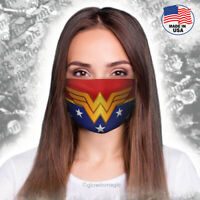 Wonder Woman Superhero face mask- Adult costume cosplay-Washable & Reusable