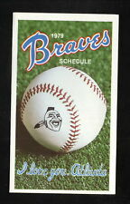Atlanta Braves--1979 Pocket Schedule--Goodyear Tires
