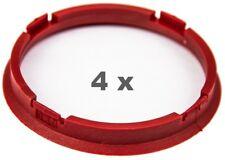 4 Pcs Centering Ring 73.0 mm on 66.45 mm Dark Red/Darkred