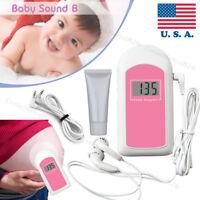 USA FDA Pocket Fetal Doppler,LCD Prenatal Heart Monitor,Baby Monitor,Free Gel