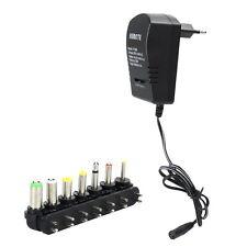 Universal Netzteil AC DC Power Adapter 3.0A Ladekabel Ladegerät Charger Schwarz