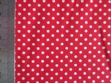 RESTSTÜCK 2m Baumwollstoff Punkte 2,5mm Dots rot-weiß