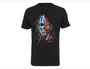 Mister Tee T-Shirt Half Face Graphic Tee Black Half Cyborg