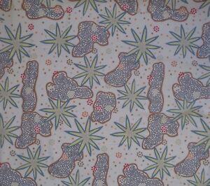 Wild Fruit Ecru Australian Aboriginal Indigenous Artist Dots Quilting Fabric FQ