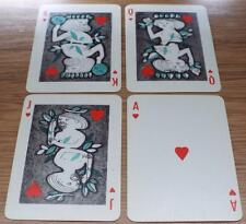 "Four Elements - Vintage Pack of 1960 Siriol Clarry """"DOHM Group"" Playing Cards"