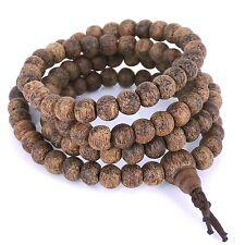Mala Bracelet/Necklace 6.5mm Vietnam Golden Agarwood Meditation 108 Beads 金絲土沉香