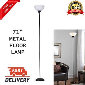 71 Inch Metal Floor Lamp Reading Living Room Light Stand Scoop Shade Bedroom New