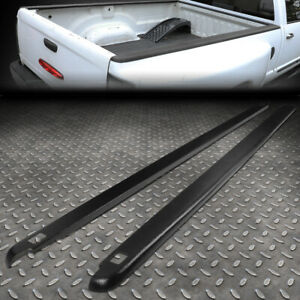 FOR 02-09 DODGE RAM 6.5FT FLEETSIDE PAIR TRUCK BED SIDE RAIL MOLDING CAP W/HOLES