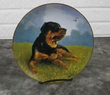 Danbury Mint Rottweiler Collector Plate Afternoon Delight By John Silver