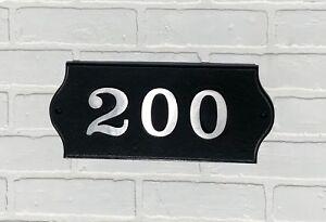 Custom Address Plaque: Contemporary Aluminum Plaque with Bold Font, House Number