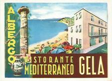 HOTEL MEDITERRANEO luggage DECO label (GELA)