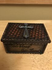 Western Decor Cross Jewelry Ring Trinket Box God Bless This Home Amazing Grace