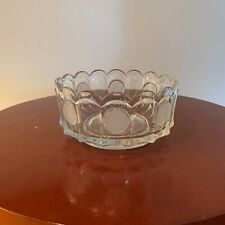 beautiful vintage fostoria coin glass bolw avon 1977