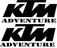 2 x KTM Adventure Logo Viele Farben Größe ca. 13 cm x 5 cm ANSEHEN DECUT DECAL