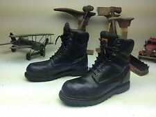 HY-TEST STEEL TOE  MILITARY MOTORCYCLE ENGINEER BLACK LEATHER BOSS BOOTS 8.5 M
