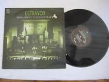 "ULTRAVOX  MONUMENT THE SOUND VINYL LP RECORD 12"""