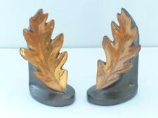 2 Pmc Philadelphia Manufacturing Co. Copper Leaf Bookends Vgc