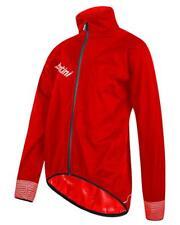 Cycling Jacket Waterproof Santini Gwalch Rainproof Red Medium Thermal Fleece